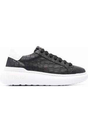HIDE&JACK Crocodile-effect chunky sole sneakers