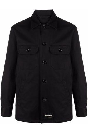 Alexander McQueen Men Jackets - Logo-patch shirt jacket