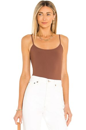 Alix NYC Elizabeth Bodysuit in Chocolate.
