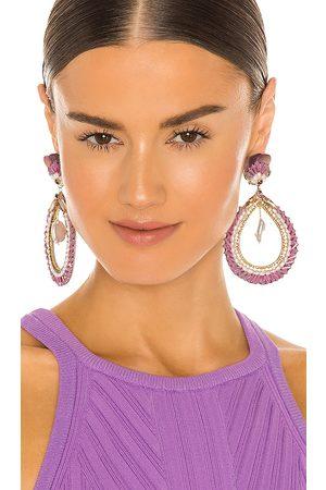 RANJANA KHAN Teardrop Baroque Pearl Earrings in .