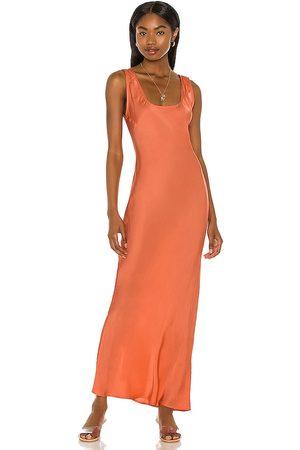 Cali Dreaming Simple Slip Dress in Coral.