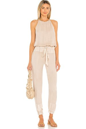 YFB CLOTHING Diego Jumpsuit in Tan.