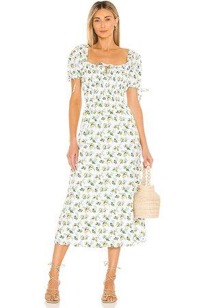 FAITHFULL THE BRAND Flora Midi Dress in White.