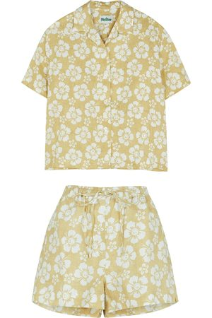 Holiday The Label Happy Hawaii printed linen pyjama set