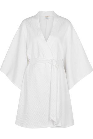 Eberjey Zen matelassé cotton robe