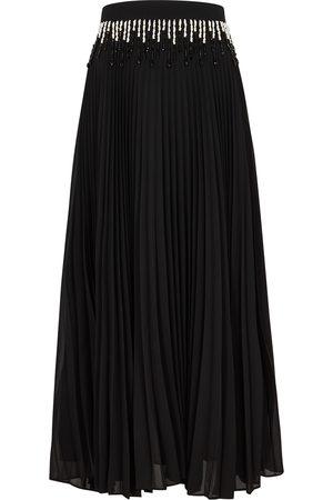 Christopher Kane Beaded pleated maxi skirt