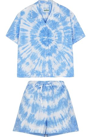 Holiday The Label Tie-dyed linen pyjama set