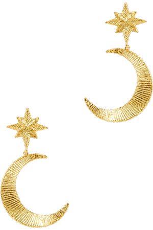 Soru Orion 18kt -plated drop earrings
