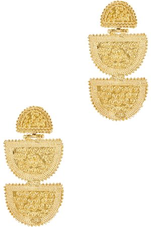 Soru Lucina 18kt -plated drop earrings