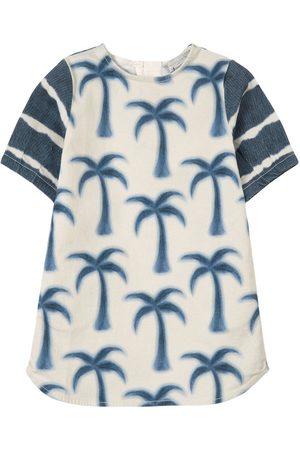 Stella McCartney Kids - White Palm Denim Dress - Girl - 3 years - - Casual dresses