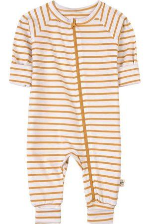 A Happy Brand White Stripe Jumpsuit - Unisex - 50/56 cm - - Playsuit and jumpsuits