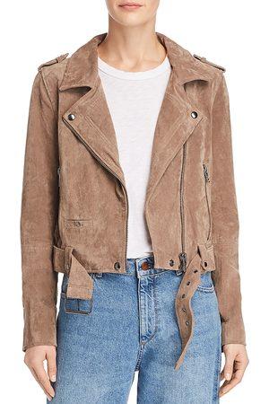 BLANK NYC Women Leather Jackets - Suede Moto Jacket