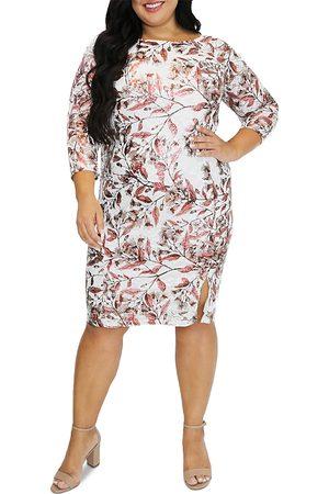 Maree Pour Toi Plus Women Printed Dresses - Foil Print Lace Dress