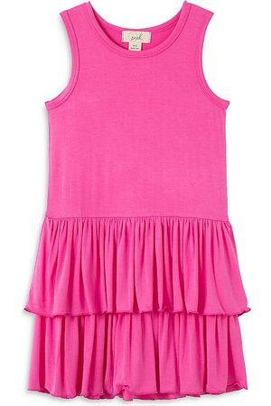 Peek Kids Girls Knitted Dresses - Girls' Ruffle Tiered Knit Dress - Little Kid, Big Kid