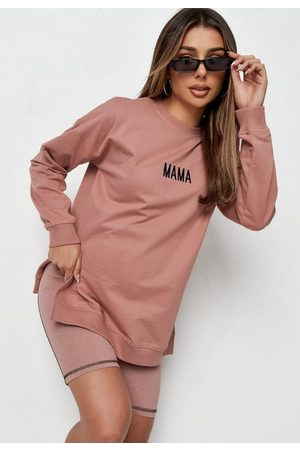 Missguided Women Sweatshirts - Recycled Rose Mama Maternity Sweatshirt