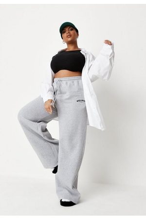 Missguided Plus Size Wide Leg Joggers