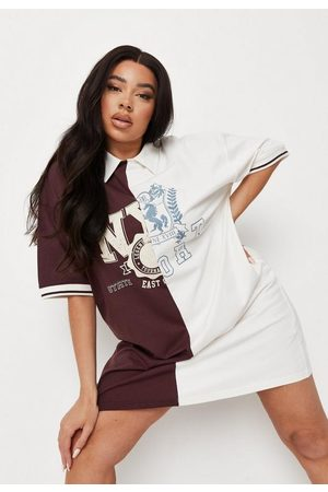 Missguided Plus Size Oversized Collar Spliced T Shirt Dress