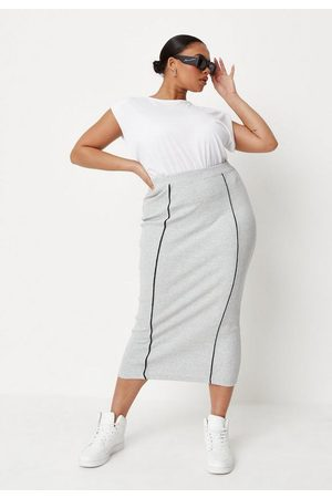 Missguided Plus Size Pencil Midi Skirt