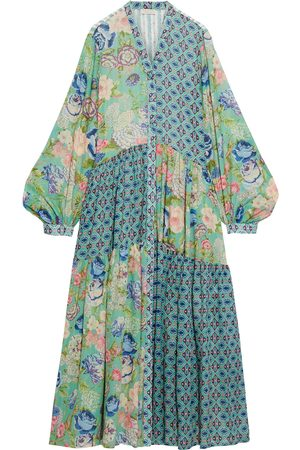 ANJUNA Woman Luella Patchwork Printed Cotton-voile Maxi Dress Size M