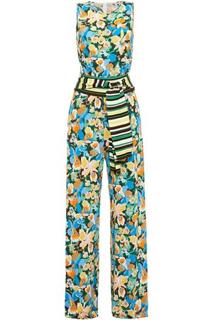 M Missoni Woman Belted Floral-print Stretch-jersey Jumpsuit Size S