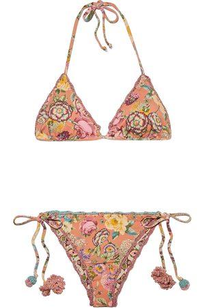 ANJUNA Woman Melissa Reversible Floral-print Triangle Bikini Size L