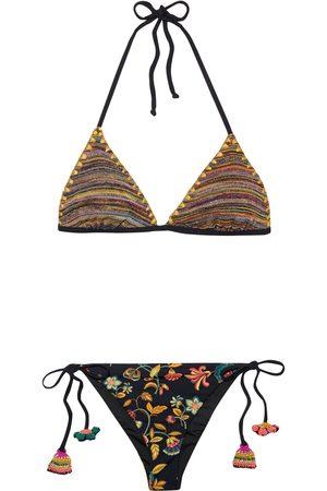 ANJUNA Woman Cassio Reversible Crochet-trimmed Printed Triangle Bikini Size L