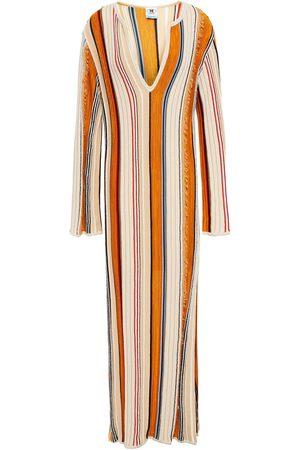 M Missoni Woman Frayed Striped Cotton-blend Kaftan Size 44