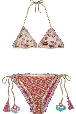 ANJUNA Woman Carina Reversible Crochet-trimmed Printed Triangle Bikini Size L