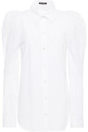 ANN DEMEULEMEESTER Woman Gathered Cotton-poplin Shirt Size 34