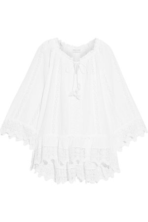 ANJUNA Women Beachwear - Woman Dayra Crocheted Lace-trimmed Broderie Anglaise Cotton Coverup Size L