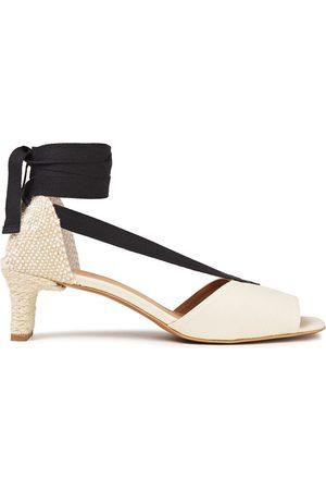 Castaner Castañer Woman Luise Canvas Sandals Ivory Size 35