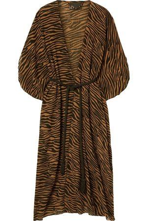 Lisa Marie Fernandez Woman Adwoa Zebra-print Cotton-voile Kaftan Animal Print Size ONESIZE