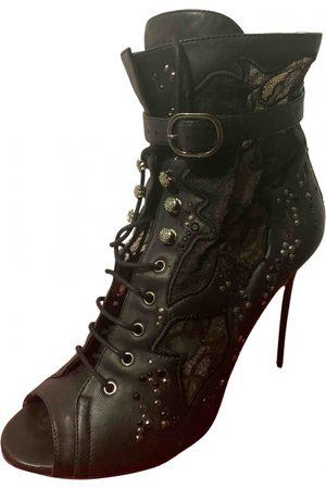 VALENTINO GARAVANI Leather open toe boots