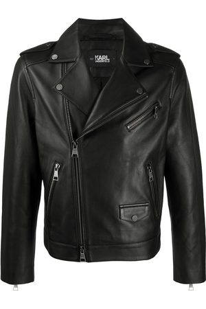 Karl Lagerfeld Men Leather Jackets - Ikonic leather biker jacket
