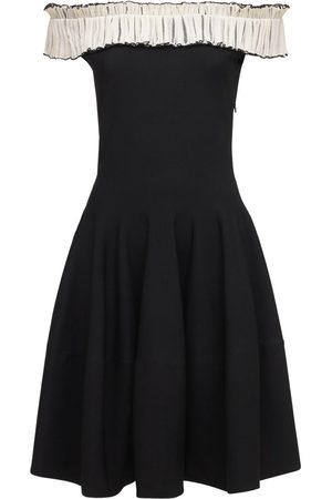 Alexander McQueen Off-the-shoulder Knit Mini Dress