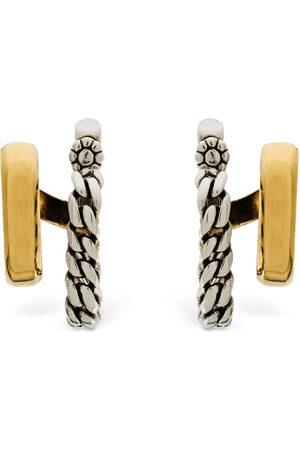 Alexander McQueen Chain Double Hoop Earrings