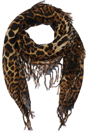 Saint Laurent Leo Wool Toile Square Scarf