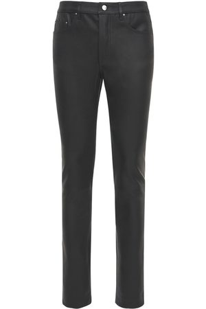AMIRI Men Leather Pants - Stretch Leather Pants