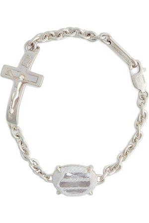 Sweetlimejuice Men Bracelets - Crucifix stone bracelet