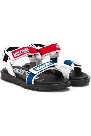 Moschino Boys Sandals - Logo touch-strap sandals