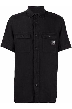 Diesel Button-up linen shirt