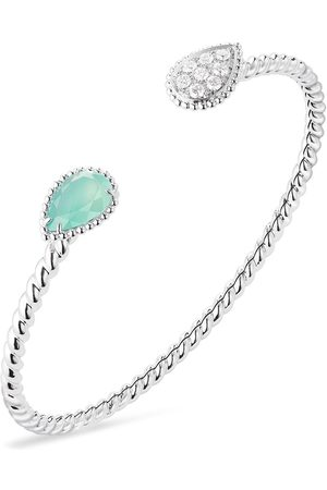 Boucheron 18kt white gold diamond aquaprase Serpente Bohème bracelet