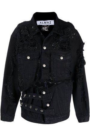 ALMAZ Bead-embellished denim jacket