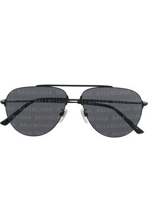 Balenciaga Logo-print aviator-frame sunglasses
