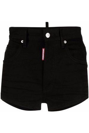 Dsquared2 Women Shorts - Icon high-waisted denim shorts