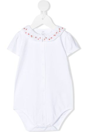 KNOT Rompers - Strawberry-embroidered body