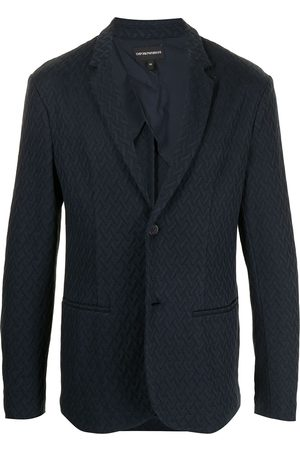 Emporio Armani Men Blazers - Stippled embossed blazer