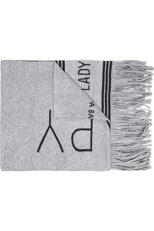 BAPY BY *A BATHING APE® Oversized logo-print scarf - Grey