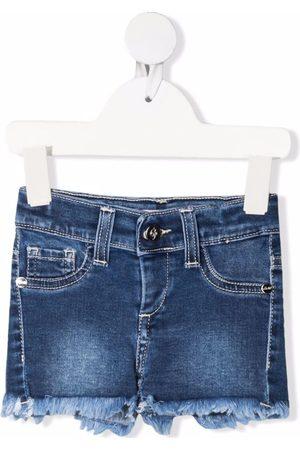 MISS BLUMARINE Frayed edge denim shorts