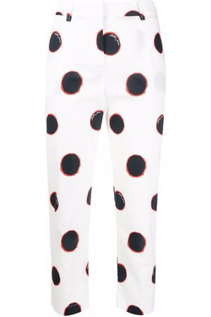 Stella Jean Maxi polka-dot print trousers